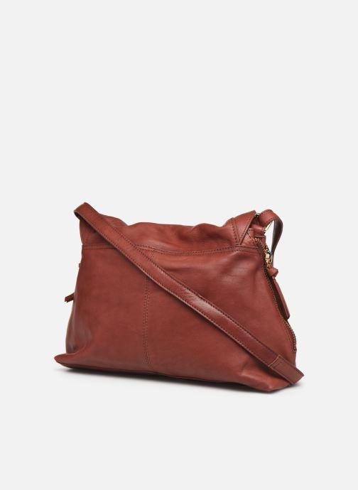 Handtaschen Pieces SAKINA LEATHER LARGE CROSS BODY rot ansicht von rechts