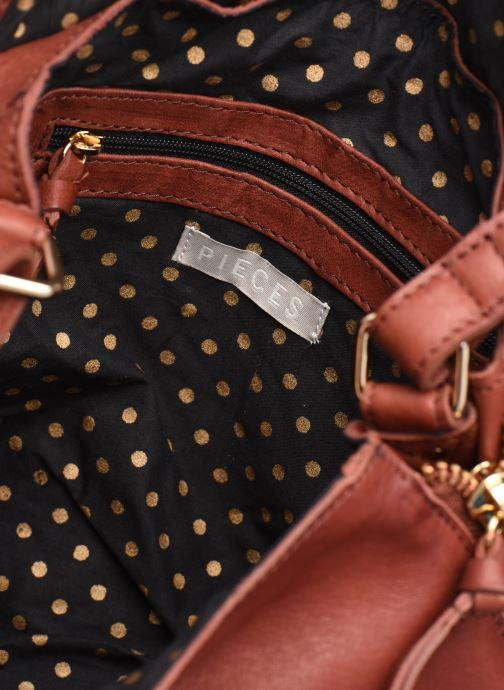 Handtaschen Pieces SAKINA LEATHER LARGE CROSS BODY rot ansicht von hinten