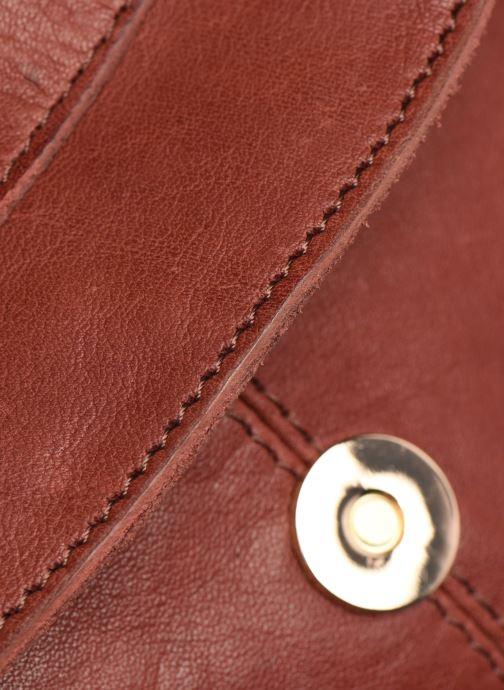 Handtaschen Pieces SAKINA LEATHER LARGE CROSS BODY rot ansicht von links