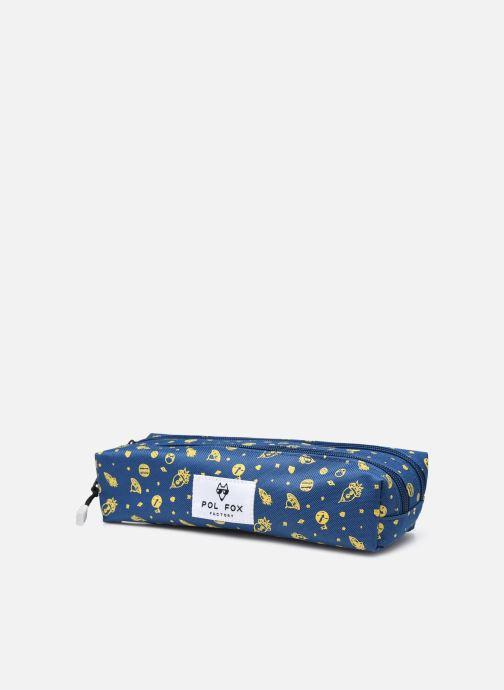 Scolaire Pol Fox TROUSSE DOUBLE Bleu vue portées chaussures