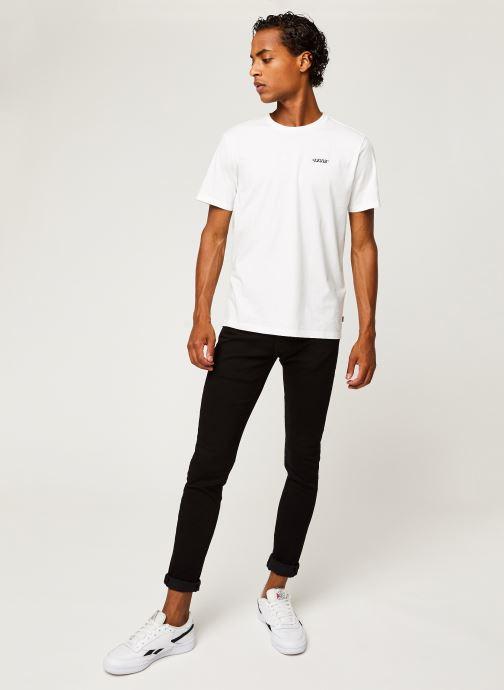 Vêtements Levi's SKINNY TAPER Noir vue bas / vue portée sac