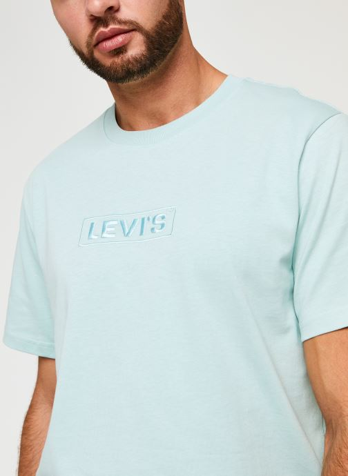 Kleding Levi's SS RELAXED FIT TEE Blauw voorkant