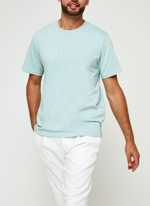 Kleding Levi's SS RELAXED FIT TEE Blauw detail