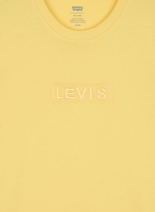Kleding Levi's SS RELAXED FIT TEE Geel voorkant