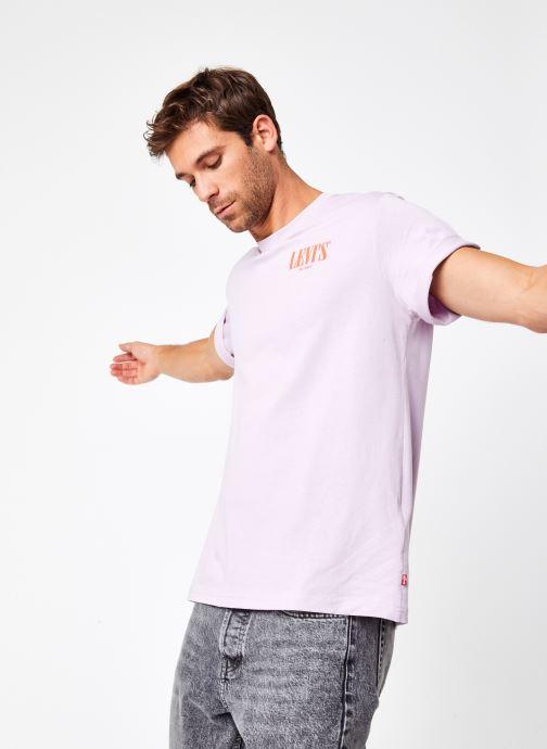 Vêtements Levi's SS RELAXED FIT TEE Rose vue détail/paire