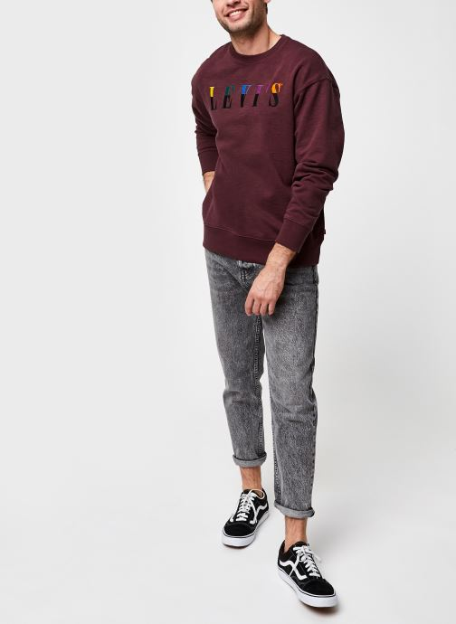Kleding Levi's RELAXED T2 GRAPHIC CREW Bordeaux onder