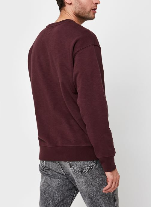Kleding Levi's RELAXED T2 GRAPHIC CREW Bordeaux model