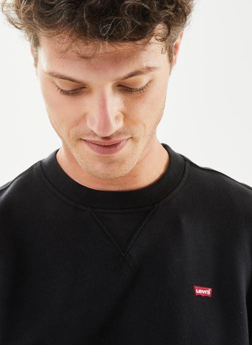 Vêtements Levi's NEW ORIGINAL CREW Noir vue face