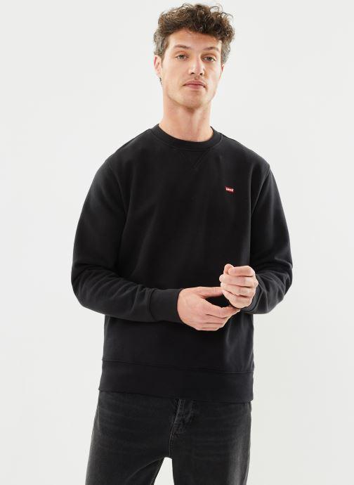 Vêtements Levi's NEW ORIGINAL CREW Noir vue droite
