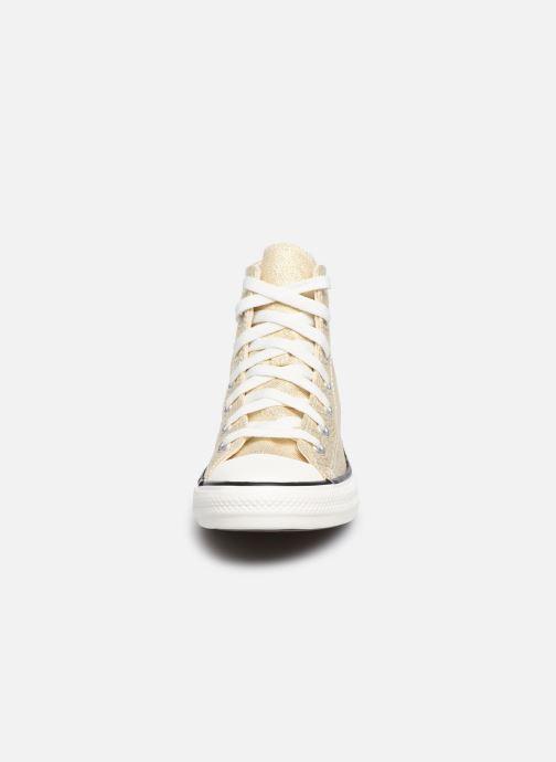 Baskets Converse Chuck Taylor All Star Summer Sparkle Hi Or et bronze vue portées chaussures