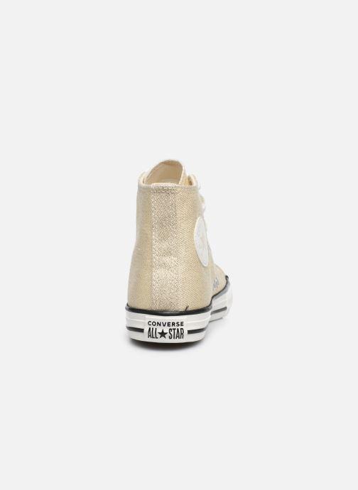 Sneakers Converse Chuck Taylor All Star Summer Sparkle Hi Goud en brons rechts