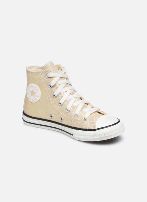 Baskets Converse Chuck Taylor All Star Summer Sparkle Hi Or et bronze vue détail/paire