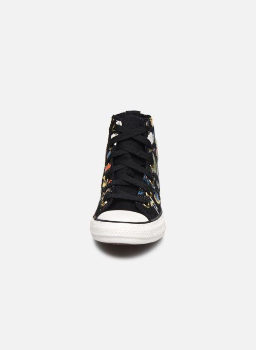 Baskets Converse Chuck Taylor All Star Camp Converse Hi Noir vue portées chaussures
