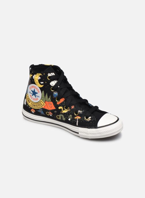 Baskets Converse Chuck Taylor All Star Camp Converse Hi Noir vue détail/paire