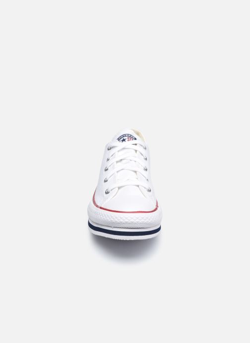 Deportivas Converse Chuck Taylor All Star Platform EVA Everyday Ease Ox Blanco vista del modelo