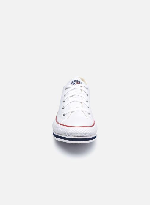 Baskets Converse Chuck Taylor All Star Platform EVA Everyday Ease Ox Blanc vue portées chaussures