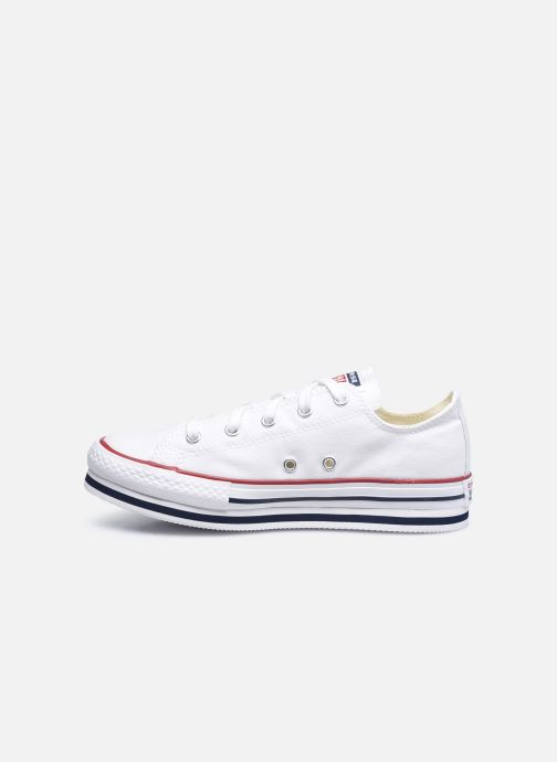 Sneakers Converse Chuck Taylor All Star Platform EVA Everyday Ease Ox Bianco immagine frontale