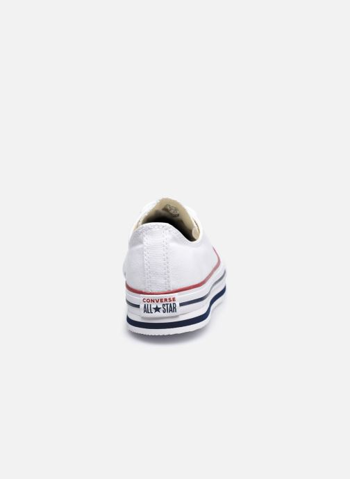 Sneakers Converse Chuck Taylor All Star Platform EVA Everyday Ease Ox Bianco immagine destra