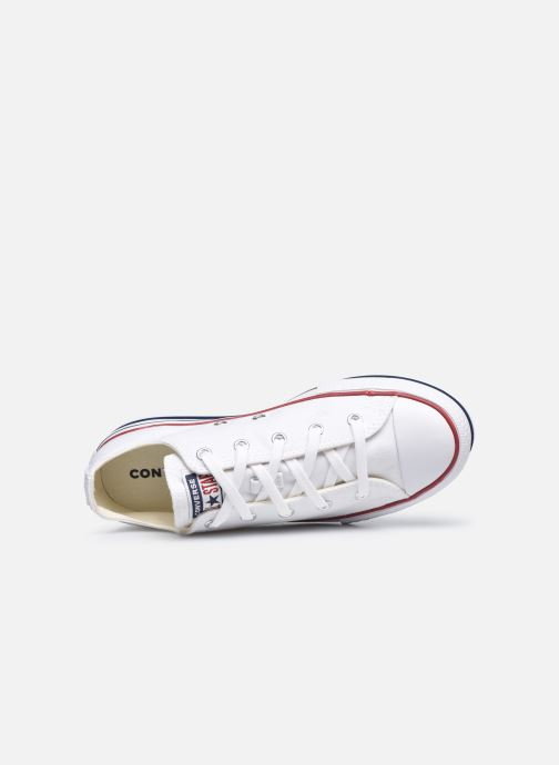 Deportivas Converse Chuck Taylor All Star Platform EVA Everyday Ease Ox Blanco vista lateral izquierda