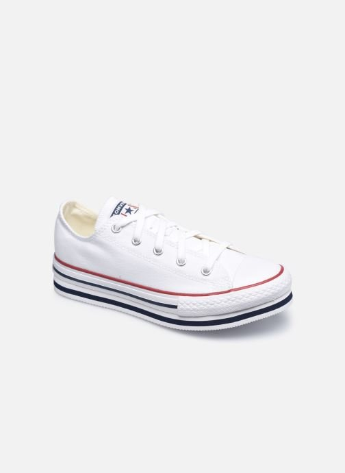 Deportivas Converse Chuck Taylor All Star Platform EVA Everyday Ease Ox Blanco vista de detalle / par