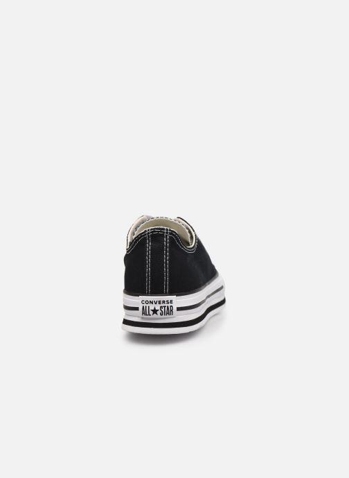 Sneakers Converse Chuck Taylor All Star Platform EVA Everyday Ease Ox Nero immagine destra