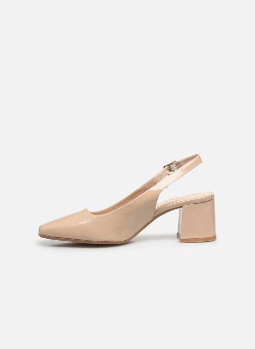Zapatos de tacón Jonak Dahlia Beige vista de frente