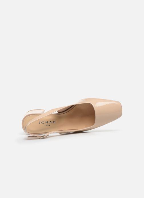 Zapatos de tacón Jonak Dahlia Beige vista lateral izquierda