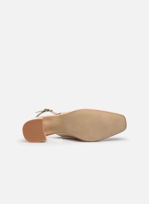 Zapatos de tacón Jonak Dahlia Beige vista de arriba