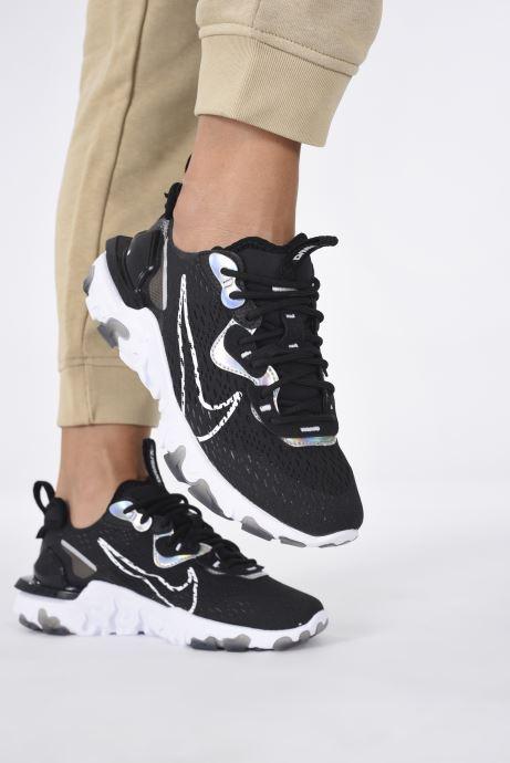 Baskets Nike W Nike Nsw React Vision Ess Noir vue bas / vue portée sac