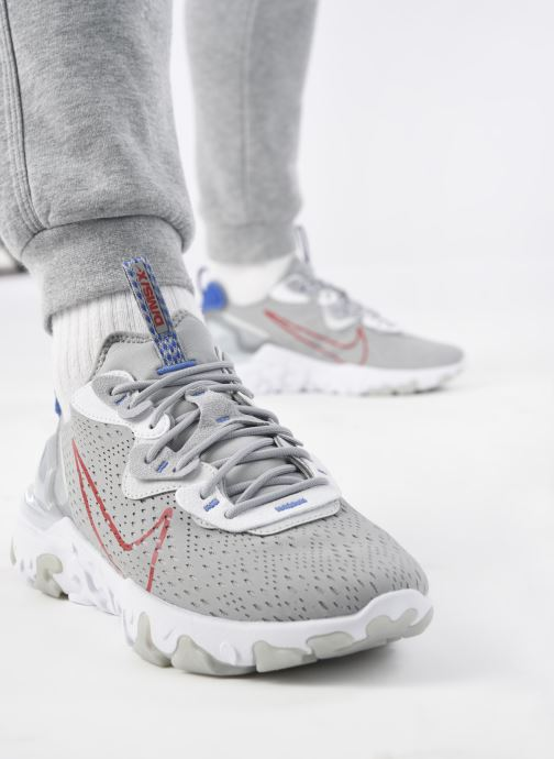 Sneaker Nike Nike React Vision grau ansicht von unten / tasche getragen