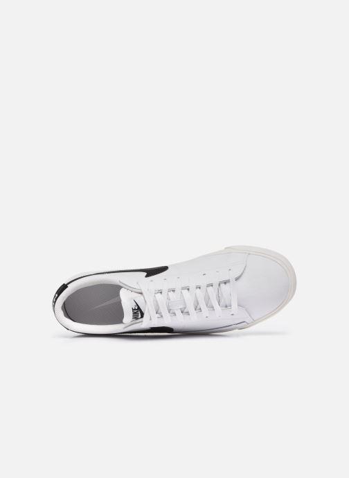 Baskets Nike Blazer Low Leather Blanc vue gauche