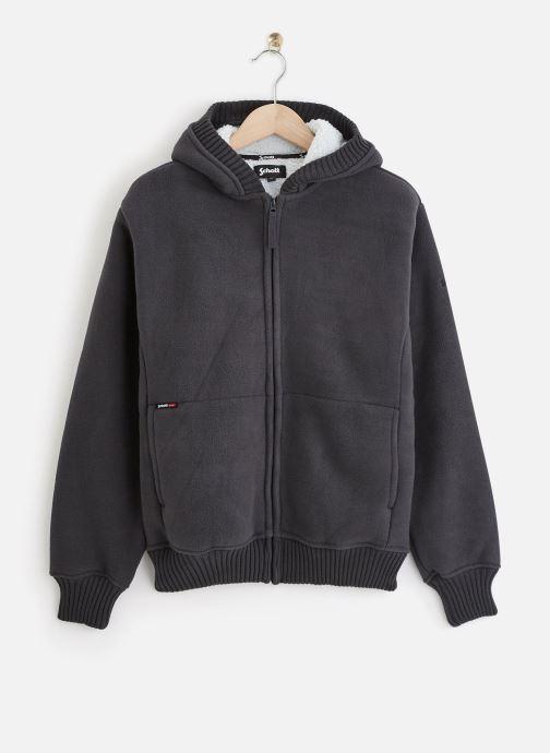 Vêtements Schott Sweat Sherpa Zippe Capuche Gris vue détail/paire