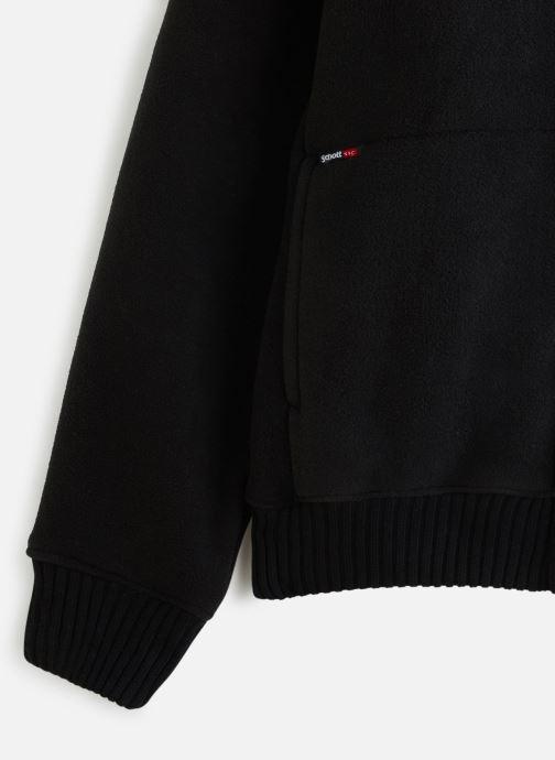 Vêtements Schott Sweat Sherpa Zippe Capuche Noir vue portées chaussures