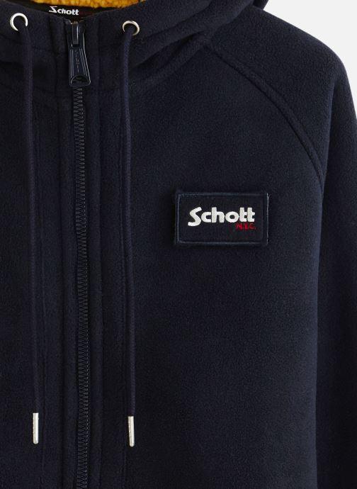 Schott Gros Sweat Zippe Capuche Badge Cwu Justin - Bleu (navy)