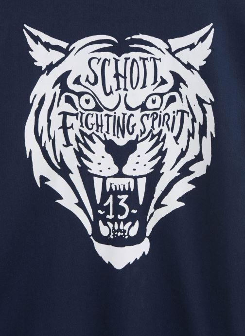 Schott Sweat Rdc Print - Bleu (navy)