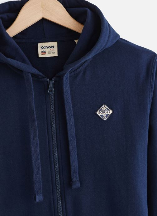 Schott Sweat Capuche Zippe Badge - Bleu (navy)