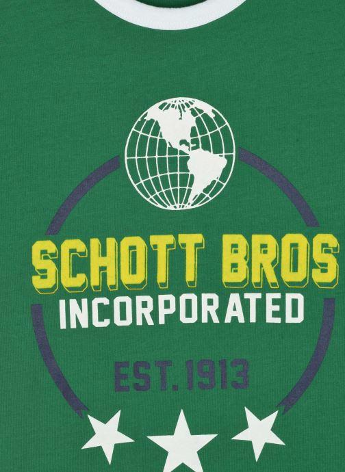 Kleding Schott Tshirt Mc Logo Planete Groen voorkant