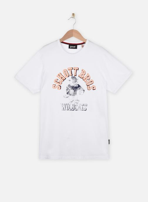 Kleding Schott Tshirt Mc Logo Wildcats Wit detail