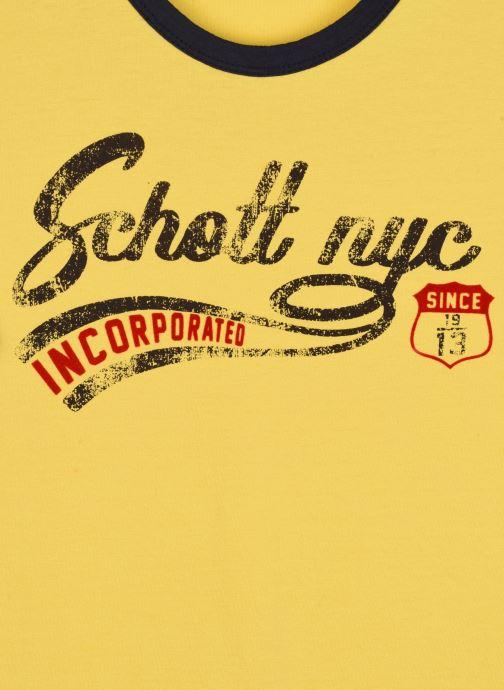 Kleding Schott Tshirt Mc Logo Signature Geel voorkant