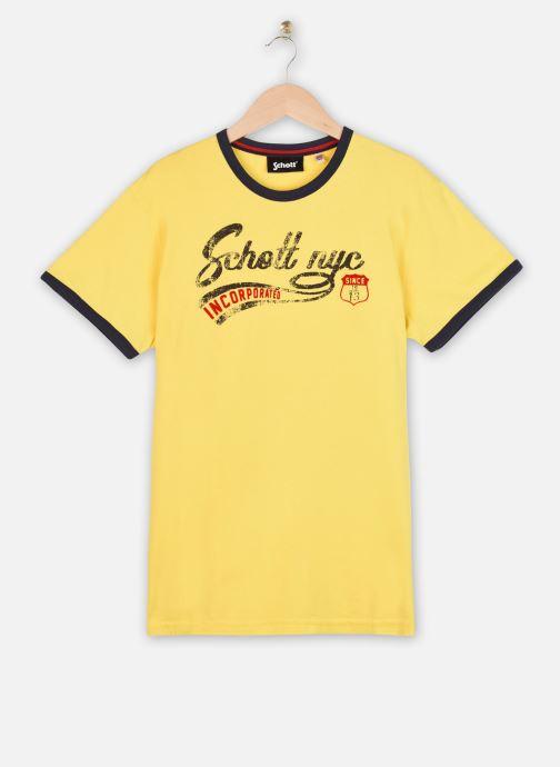 Kleding Schott Tshirt Mc Logo Signature Geel detail