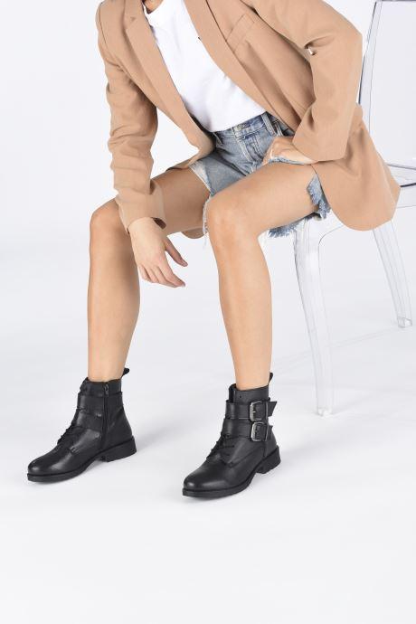 Bottines et boots I Love Shoes THORO LEATHER Noir vue bas / vue portée sac