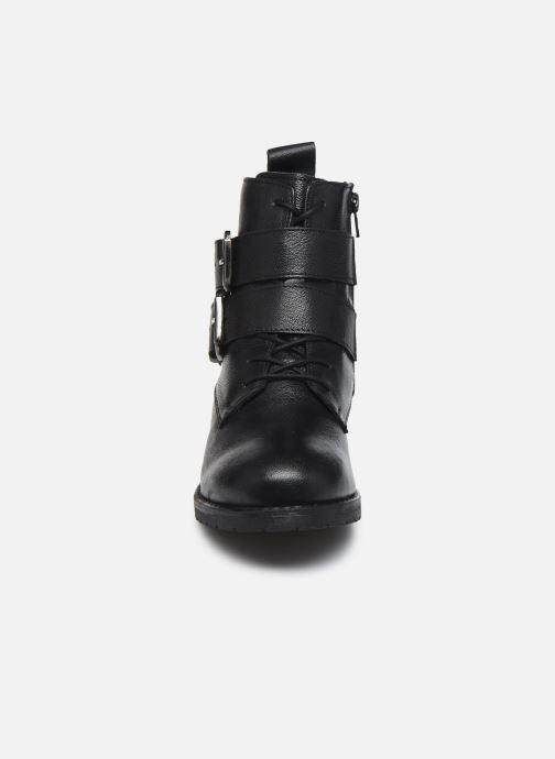 Stivaletti e tronchetti I Love Shoes THORO LEATHER Nero modello indossato