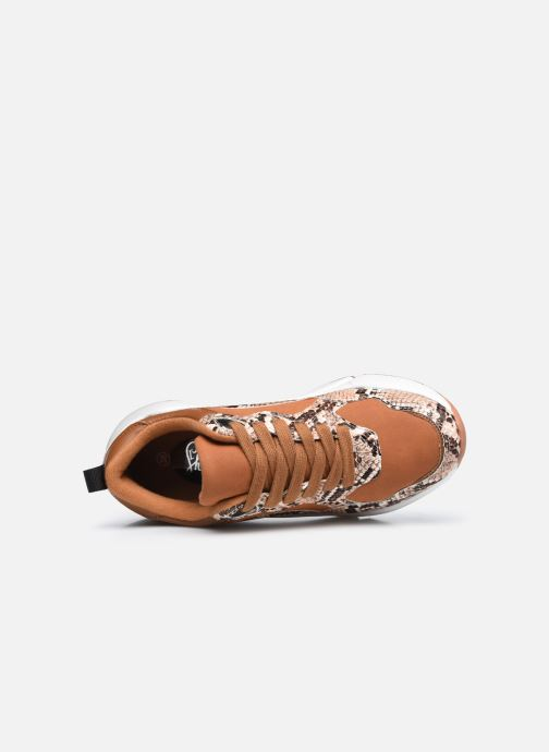 Baskets I Love Shoes THELLA Marron vue gauche