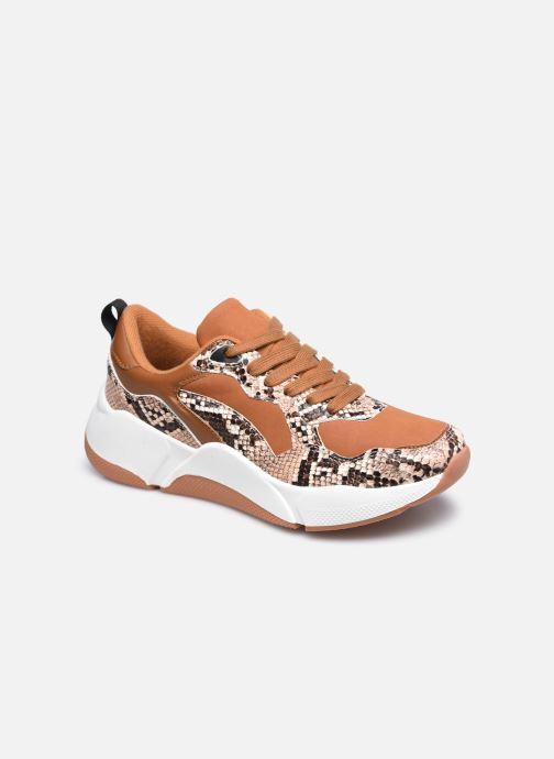 Baskets I Love Shoes THELLA Marron vue détail/paire