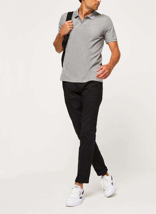 Kleding Calvin Klein Refined Pique Chest Logo Grijs onder