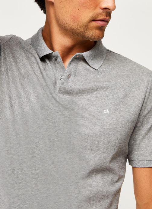 Kleding Calvin Klein Refined Pique Chest Logo Grijs voorkant