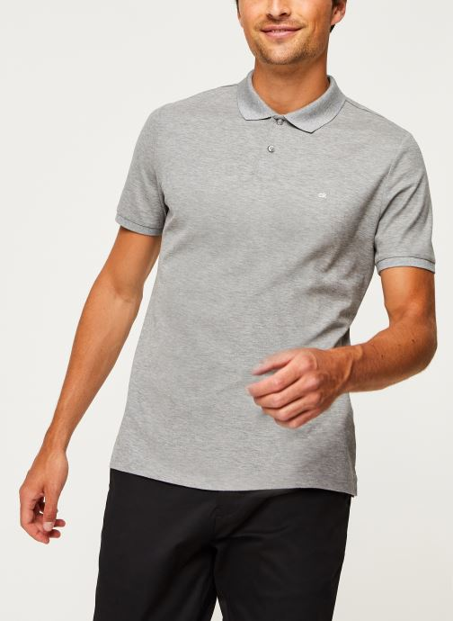 Kleding Calvin Klein Refined Pique Chest Logo Grijs rechts