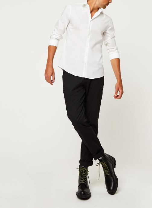 Kleding Calvin Klein 2Ply Poplin Stretch Slim Shirt Wit onder