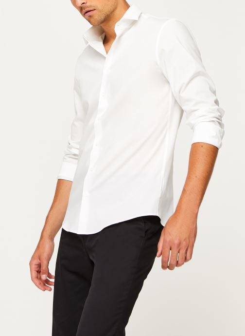 Vêtements Calvin Klein 2Ply Poplin Stretch Slim Shirt Blanc vue détail/paire