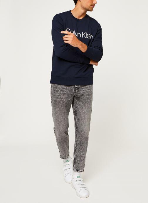 Kleding Calvin Klein Cotton Logo Sweatshirt Blauw onder